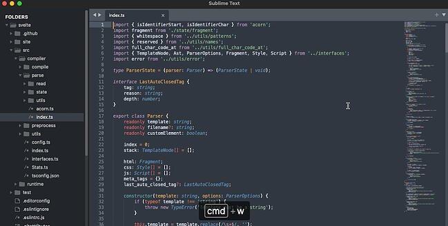 Sublime Text 网页设计软件